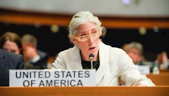 کورتنی نمروف نمایندة آمریکا در جلسة کمیتة سوم مجمع عمومی