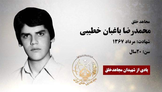 مجاهد شهید محمد رضا باغبان خطیبی