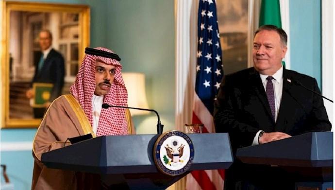 کنفرانس مشترک پمپئو با وزیر خارجه عربستان