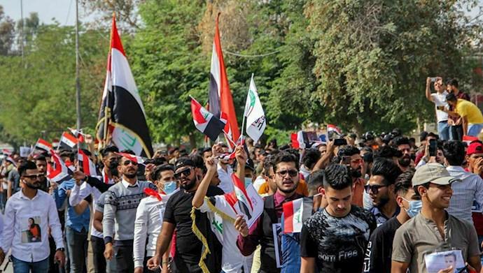 کربلا - تظاهرات دانشجویان در حمایت از انقلابیون عراقی