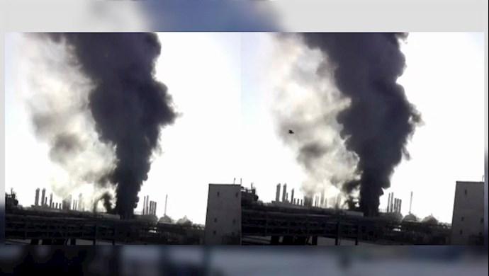 آتش سوزی در پتروشیمی موسوم به امام ماهشهر