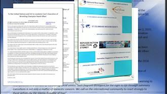 بیانیه مشترک ۶سازمان و انجمن حقوقبشری استرالیا