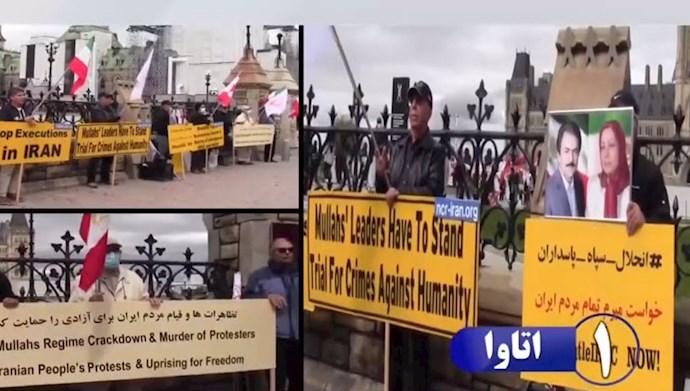 تظاهرات  یاران شورشگر و اشرف نشانها در اتاوا