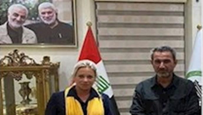 دیدار  پلاسخارت رئیس هیأت سازمان ملل در عراق با عبدالعزیز المحمداوی سرکرده حزب الله عراق