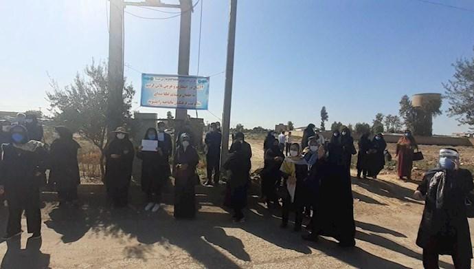 اعتراض فرهنگیان غارت شده گنبدکاووس - ۲۴مهر۹۹