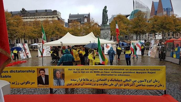 آکسیون هواداران مقاومت و اشرفنشانها در لاهه هلند جلوی پارلمان