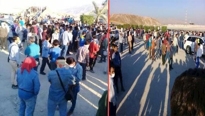 اعتصاب نیروهای پترو پالایش لامرد شیراز در اعتراض به عدم دریافت حقوق معوقه