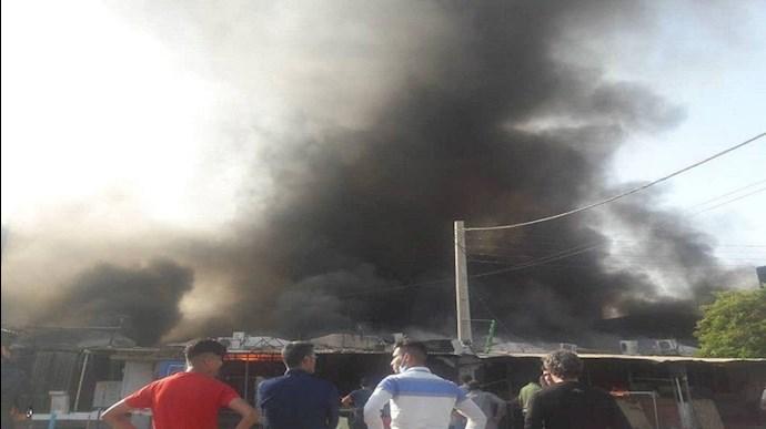 آتش سوزی در بازار دیلم