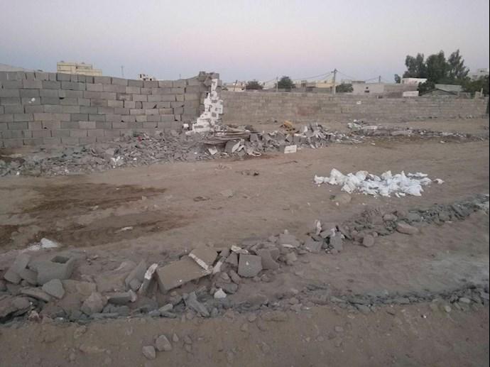 تخریب خانههای مردم در چابهار توسط پاسداران جنایتپیشه - 1