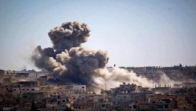 بمباران مقر شبه نظامیان رژیم ایران در استان القنیطره سوریه