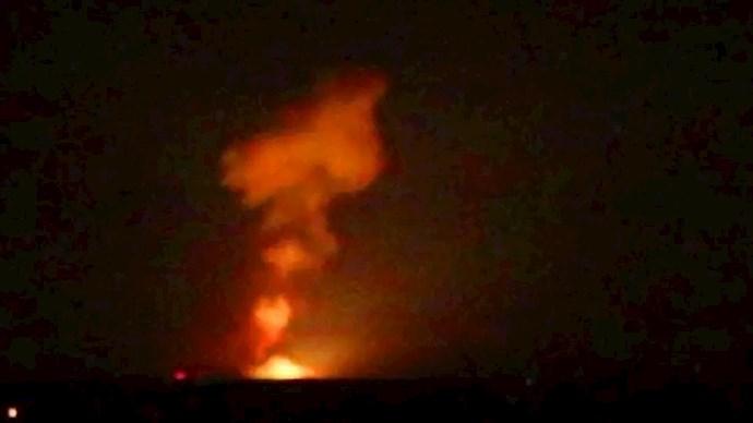 حمله به مواضع رژیم آخوندی در سوریه
