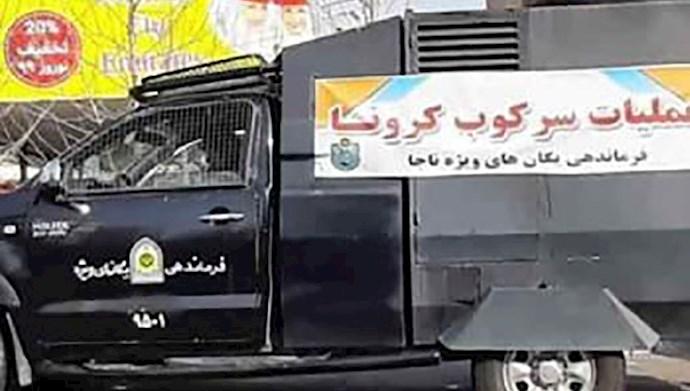 استقرار نیروهای سرکوبگر در خیابانهای تهران
