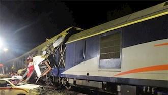 برخورد ۲ قطار در قزوین ۵ مصدوم بر جای گذاشت