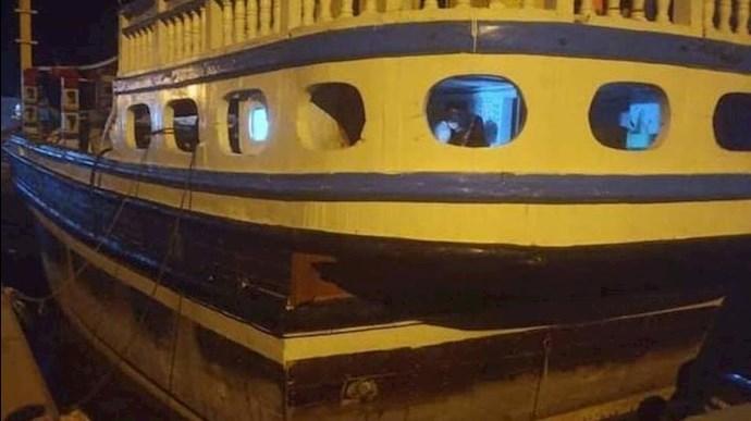 توقیف کشتی قاچاق مواد مخدر رژیم