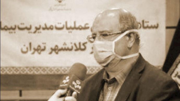 زالی رئیس ستاد حکومتی مقابله با کرونا در تهران