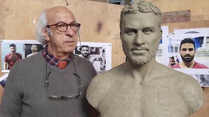 مجسمه ساخته شده نوید افکاری توسط رضا اولیا