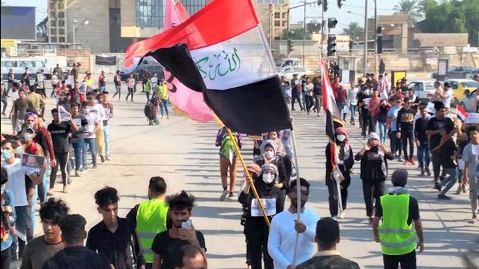 تظاهرات دانشجویان قیامکننده در عراق