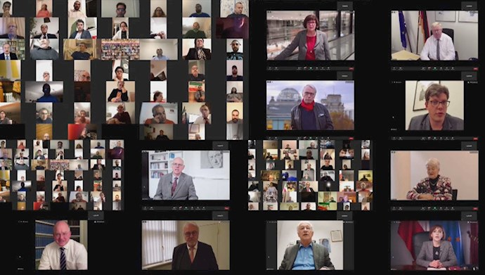 کنفرانس آنلاین نمایندگی شورای ملی مقاومت در برلین