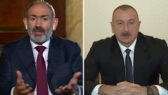 رئیسجمهور آذربایجان، الهام علی اف و نخست وزیر ارمنستان، نیکول پاشینیان