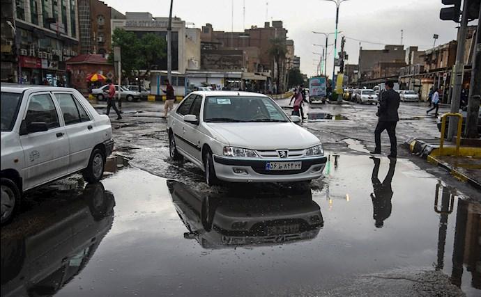 بارش باران و آبگرفتگی در اهواز - 2
