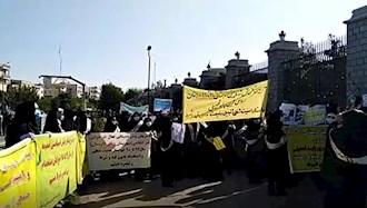 تجمع پیش دبستانی های استانها مقابل مجلس رژیم ۱۱آبان۹۹