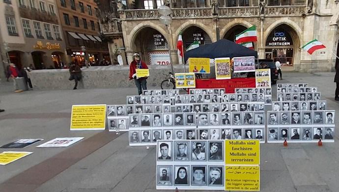 مونیخ تظاهرات یاران شورشگر در بزرگداشت شهیدان قیام آبان