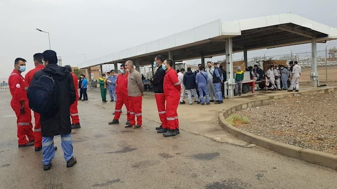 -اعتصاب کارکنان میدان نفتی آزادگان شمالی