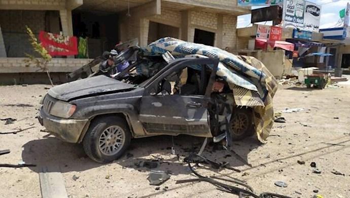 بمباران خودرو حامل پولهای رژیم ایران برای حزبالله