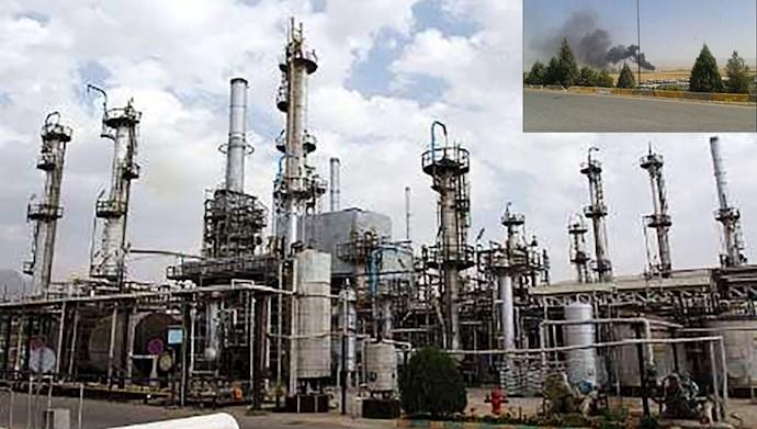 حریق در کارخانه تهران شرکت نفت پاسارگاد