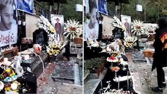 گلباران مزار شهید قیام آبان پژمان قلیپور