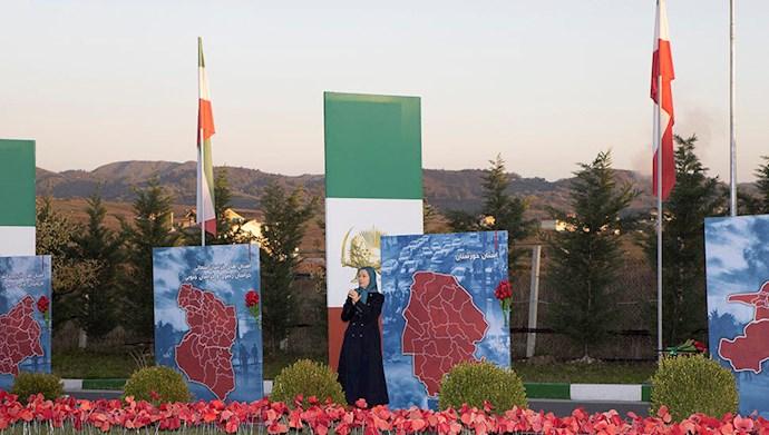 مریم رجوی رئیس جمهور برگزیده مقاومت ایران -  سالگرد قیام کبیر آبان ۹۸