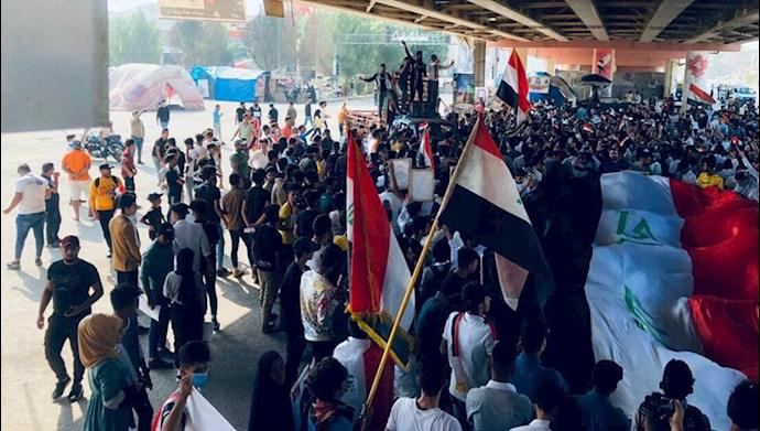 تظاهرات مردم عراق در بابل