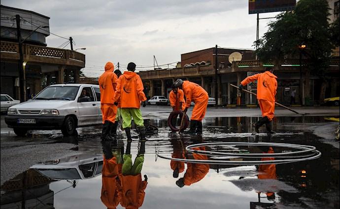 بارش باران و آبگرفتگی در اهواز - 5