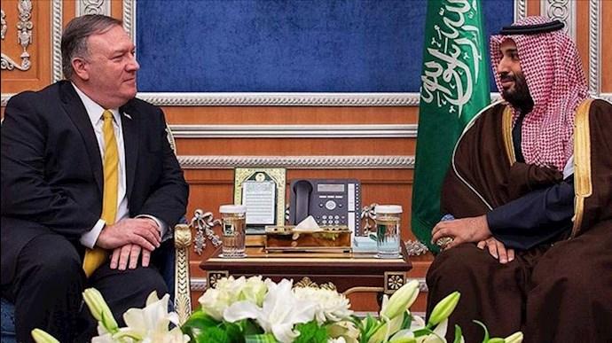 تأکید مایک پمپئو و ولیعهد عربستان سعودی بر مقابله با رفتار تجاوزکارانه رژیم