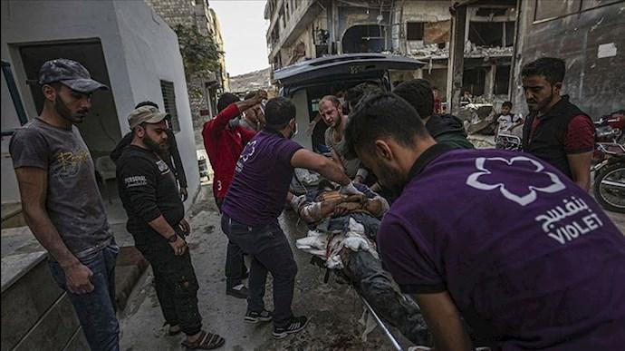 حملات رژیم اسد به غیرنظامیان در ادلب