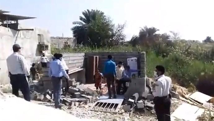 تخریب خانه زن بی پناه در بندرعباس