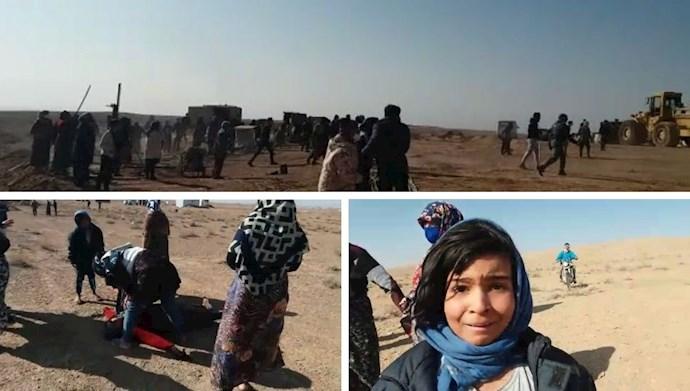 سرکوب وحشیانه نیروی سرکوبگر انتظامی به اهالی روستای کردآباد