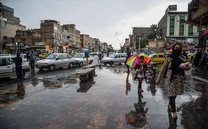 بارش باران و آبگرفتگی در اهواز - 1