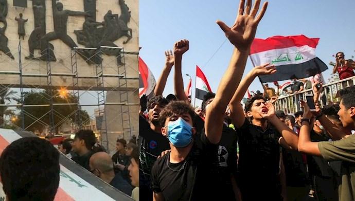 تظاهرات قیام کنندگان عراقی در بغداد و ذیغار