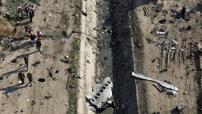 هواپیمای مسافربری اوکراینی سرنگون شده توسط سپاه پاسداران