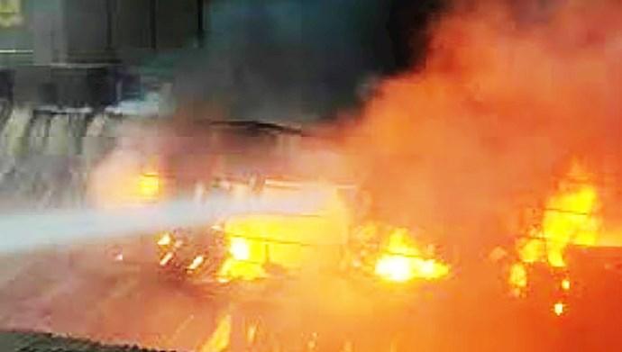 انفجار مهیب در کارخانه فولاد در اردستان