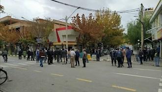 تجمع اعتراضی بازاریان شهرستان نقده