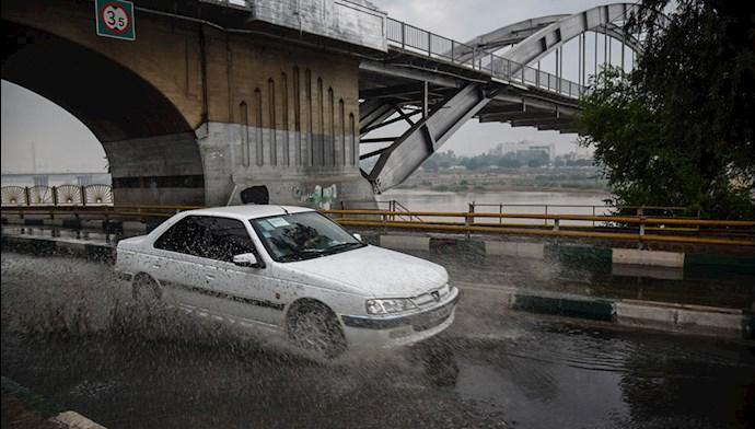 بارش باران و آبگرفتگی در اهواز - 0