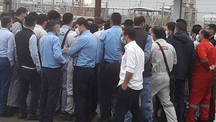 اعتصاب کارکنان میدان نفتی آزادگان شمالی