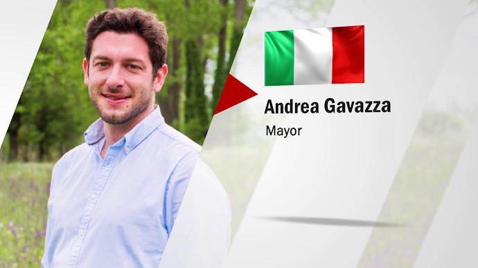 آندرئا گاواتزا شهردار شهر کاوانیولو ایتالیا - 0
