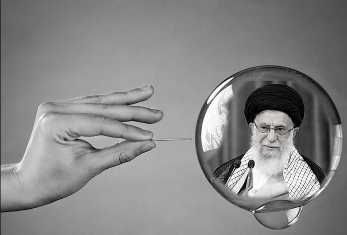 ترکیدن حباب اقتدار نظام