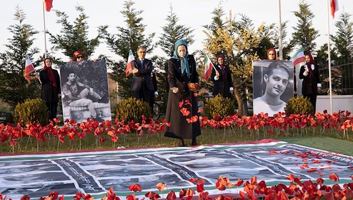 مراسم سالگرد قیام کبیر آبان در اشرف۳ با یاد شهیدان - 3