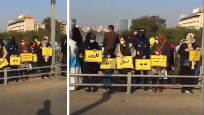 تجمع اعتراضی گروهی از شهروندان اهوازی