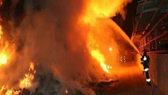 انفجار و آتش_سوزی گسترده کارخانه ذوب_آهن در سلفچگان قم