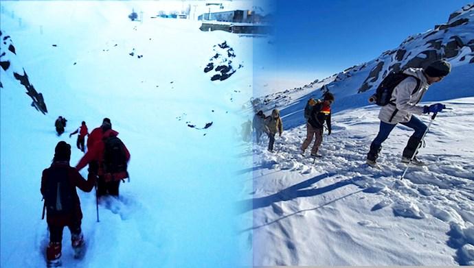 مفقود شدن ۱۰کوهنورد در ارتفاعات شاه جهان اسفراین